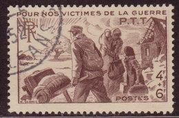 FRANCE - 1945 - YT N° 737 - Oblitéré - Victimes Guerre PTT - France