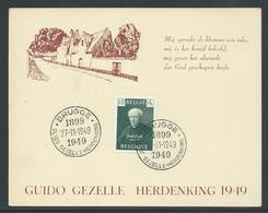 Herdenkingskaart Guido Gezelle - Belgique