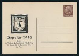 Privatpostkarte MiNr. PP 130 C 1, 30.8.-1.9.1935 Beposta 1935, Ungebraucht, 10 Pf Hindenburg Braun - Ganzsachen