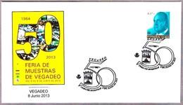 Matasellos FERIA DE NUESTRAS DE VEGADEO. Cancel. Vegadeo, Asturias, 2013 - 1931-Hoy: 2ª República - ... Juan Carlos I