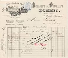"""PARIS  11 - 22 Rue De Charonne - ébénisterie ,ameublement  """"Schmidt &Piollet """" - France"""