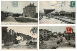 40 CP(SNCF GIF+VERDUN+Trams)Folkl+Klein+Fantaisies Avec Paillettes+Attelages+Coquine+Noce+Milit+Rhodoïd+Wagon Etc N°03 - Cartes Postales