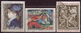 FRANCE - 1968 - YT N° 1568 / 1570 - Oblitérés - Oeuvres D'Art - France