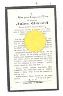 Faire-part De Décès De Mr. Jules GERARD ép. De F. Martin - CRUPET 1925 (b243) - Décès