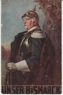 Unser Bismarck, Wohlfahrtskarte, Verband Deutscher Krankenpflegeanstalten, Rotes Kreuz, Feldpost - Alte Farbkarte - Guerre 1914-18