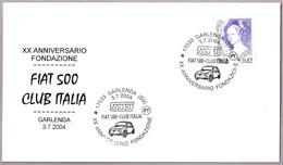 20 Aniversario Club Italia FIAT 500. Garlenda, Savona, 2004 - Coches