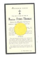 Faire-part De Décès De Mr. Frans THOMAS ép. De J. Guillaume - LIEGE 1924 (b243) - Décès
