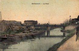 59 Berlaimont, Le Pont, Carte Toilée Couleur - Berlaimont