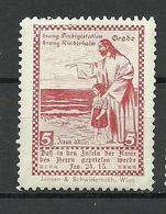 AUSTRIA Österreich Ca 1900 Evang. Predigstaton U. Kinderheim  Jesus Vignette Spendemarke * - Christentum
