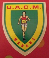 Autocollant UACM Marans. Athlétisme. Vers 1960-70 - Aufkleber