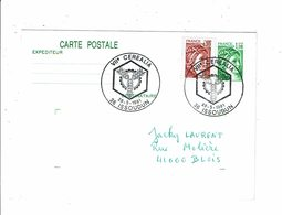 Carte Postale VIIe CEREALIA Issoudun Mai 1981 Cachet Temporaire Obliteration - Postmark Collection (Covers)
