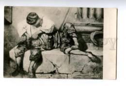 157883 Boys Beggar By DECAMPS Vintage PC - Autres Illustrateurs