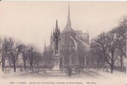 CPA - 2014. PARIS Jardin De L'évêché L'abside De Notre Dame - Parcs, Jardins