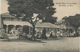 St Croix D.W.I. Dansk Vestindien Market Place Frederiksted Benjamin P. Used Stamped 1911 To  Corrombles Par Epoisses - Isole Vergini Americane