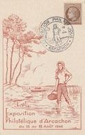 OBLIT. ILLUSTRÉE EXPO. ARCACHON 8/1946 - Huitres - Bolli Commemorativi