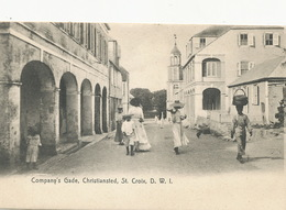 St Croix D.W.I. Dansk Vestindien Company's Gade Christiansted Lightbourn's P. Used - Vierges (Iles), Amér.