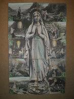 """LOURDES - Bernadette SOUBIROUS -""""Je Suis L'immaculée Conception"""" Puzzle De 10 Cartes Postales. édition Fauvette - Lourdes"""