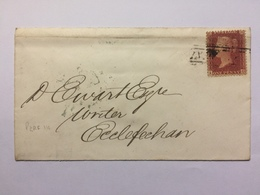 GB Victoria 1858 Cover To David Ewart Writer Of Ecclefechan Scotland Tied With Penny Star Perf 14 + Scotland Mark - 1840-1901 (Victoria)
