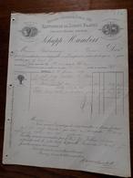 Ancienne Facture. Raffinerie De Sirops Blancs. Schupp Humbert. Epinal. 1889 - France