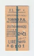 BIGL--00041-- BIGLIETTO FERROVIE DELLO STATO-ANDATA E RITORNO 16-3-1984 - Treni