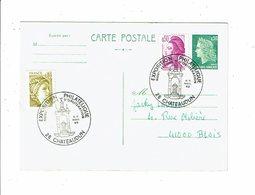 Carte Postale EXPOSITION PHILATELIQUE Nouvelle Flamme D'oblitération CHATEAUDUN Novembre 1982 Cachet Temporaire - Marcophilie (Lettres)
