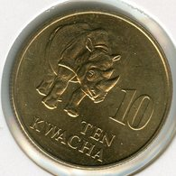 Zambie Zambia 10 Kwacha 1992 Rhinocéros UNC KM 32 - Zambie
