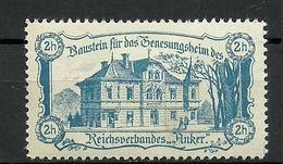 """AUSTRIA Österreich Ca 1910 Baustein Für Das Genesungsheim Des Reichsverbandes """"Anker"""" Vignette Spendemarke * - Vignetten (Erinnophilie)"""