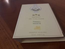 Echantillon Sur Carte  Roger & Gallet  ** Néroli Facétie ** Cologne - Perfume Cards