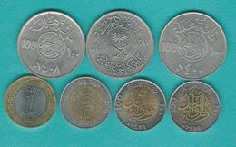 100 Halalah - 1977 - FAO (KM59) 1980 (KM52) 1988 (KM65) 1998 - 100th Anniversary (KM67) 1999 (KM66) 2008 (KM72) & 2016 - Arabie Saoudite