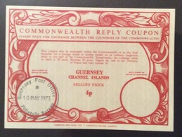 COMMONWEALTH  REPLY COUPON  GUERNSEY CHANNEL ISLAND  SELLING PRICE 4p - Posta