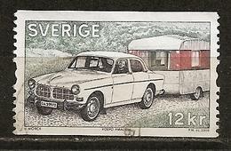 Suede Sweden 2009 Car With Caravan Obl - Oblitérés
