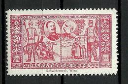 AUSTRIA Österreich Ca 1910 Dem Verwundeten Bruder U. Seiner Notleidenden Familie Spendemarke * - Vignetten (Erinnophilie)