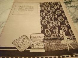 ANCIENNE PUBLICITE CREME ET  POUDRE DE RIZ  MALACEINE 1919 - Parfums & Beauté