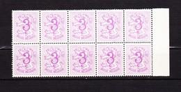 1957 Nr 1026B** Zonder Scharnier,blokje Van 10.Cijfer Op Heraldieke Leeuw. - 1951-1975 Lion Héraldique