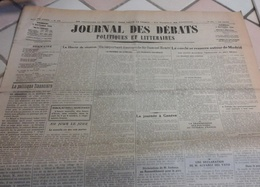 Journal Débats Politiques Littéraires 3 Octobre 1936 Guerre Espagne Cortès Autonomie Pays Basque,Encerclement Madrid - General Issues