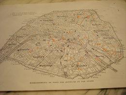 AFFICHE PHOTO BONBARDEMENTS DE PARIS PAR ZEPPELINS ET AVIONS 1919 - 1914-18