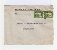 Sur Envelppe Paire De 5 C Verts République D'Haïti. CAD St Marc Haïti 1936. (1015x) - Haïti