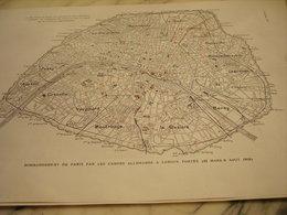 AFFICHE PHOTO BONBARDEMENTS DE PARIS PAR LES CANONS ALLEMANDS  1919 - 1914-18