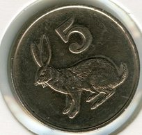 Zimbabwe 5 Cents 1980 Lapin UNC KM 2 - Zimbabwe