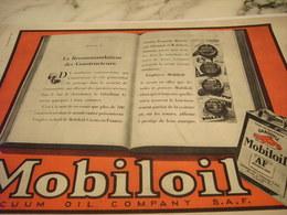 ANCIENNE PUBLICITE LA RECOMMANDATION D  HUILE MOBILOIL  1931 - Transport