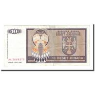 Billet, Bosnia - Herzegovina, 10 Dinara, 1992, KM:133a, TTB - Bosnia And Herzegovina