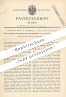 Original Patent - Friedrich Weck , Lilleshall , County Of Salop , England 1884 , Waschen & Reinigen Von Gasen | Gas Gase - Historische Dokumente