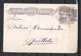Chile 1909, Memorandum Postage, Gelaufen / Chile 1909, Memorandum Postage, Postally Used - Chili