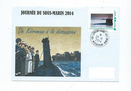 16896 - JOURNÉE DU SOUS-MARIN - LORIENT 2014 -  TPAM SM - Storia Postale