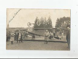 PRES DU CLOCHER DE CROISMARE(54) RARE CARTE PHOTO D'1 AVION TAUBE ALLEMAND TOMBE A JOLIVET AVEC MILITAIRES 1915 - Francia