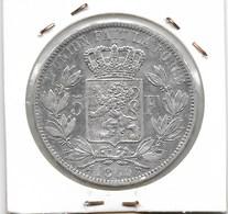 LEOPOLD 1 - 5 FRANK 1865 - 1831-1865: Léopold I
