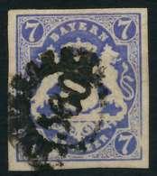 WAPPEN-AUSGABE 1867-1868 Nr 21a GMR 560 Gestempelt X8840D2 - Beieren