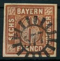 BAYERN QUADRATE Nr 4II GMR 577 Zentrisch Gestempelt X884182 - Bavière