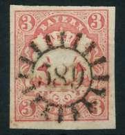 WAPPEN-AUSGABE 1867-1868 Nr 15 GMR 589 Zentrisch Gestempelt X88422A - Bayern