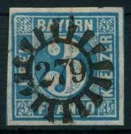 BAYERN QUADRATE Nr 2II GMR 279 Zentrisch Gestempelt X88433E - Bavière